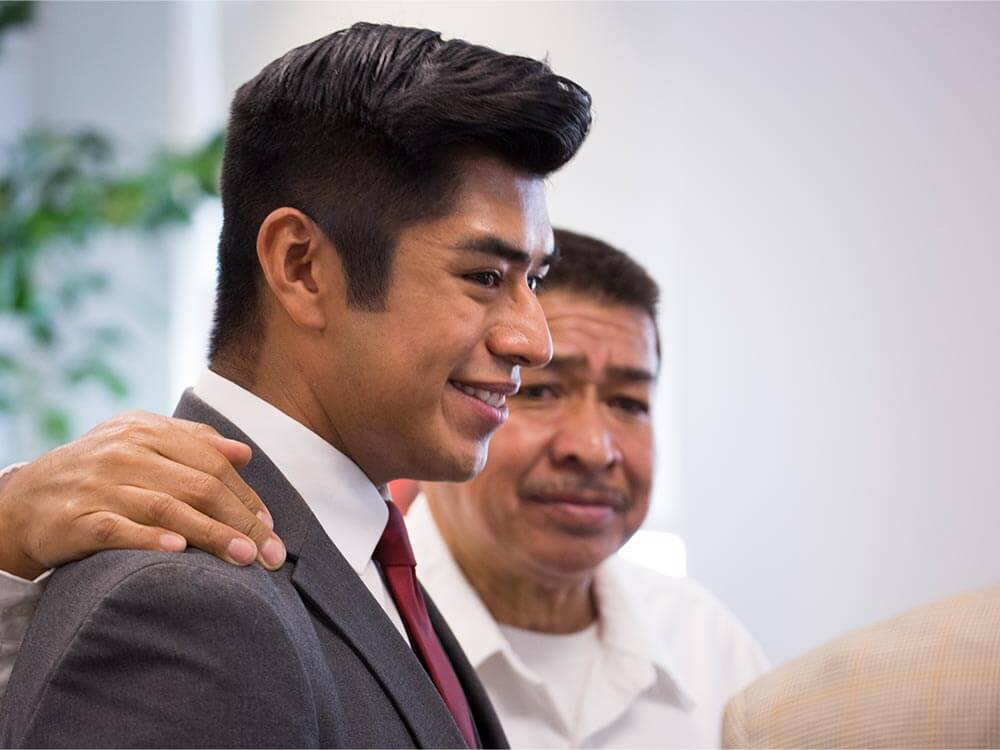 Eric Resendiz with his father.
